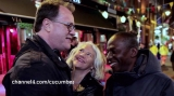 Filming Cucumber in Canal Street with Russell T Davies and Cyril Nri