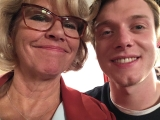 With Rob Mallard, filming recent return to face Ken and Dan, Corrie ITV
