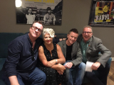 With Russell T Davies, Craig Kelly and Tom Robinson for a QAF screening at the BFI