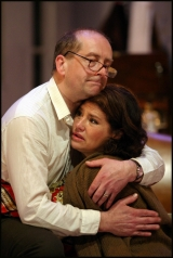 With Ian Bartholomew. Martha in Who's Afraid Of Virginia Woolf, Liverpool Playhouse